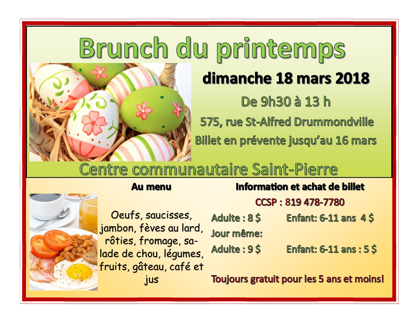 Brunch du printemps